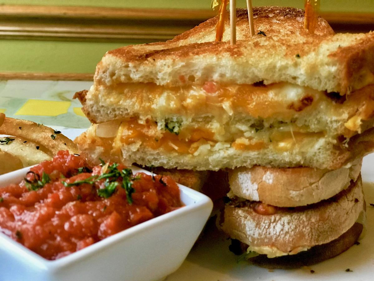 Grown Up Grilled Cheese & Tomato Relish